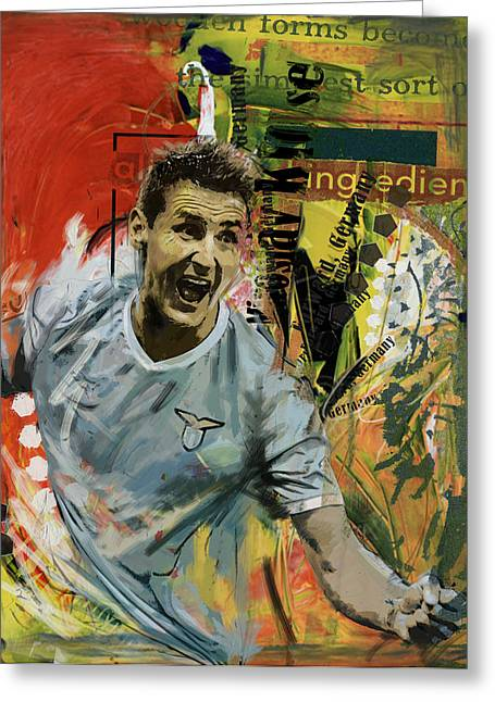 Miroslav Klose Greeting Card by Corporate Art Task Force