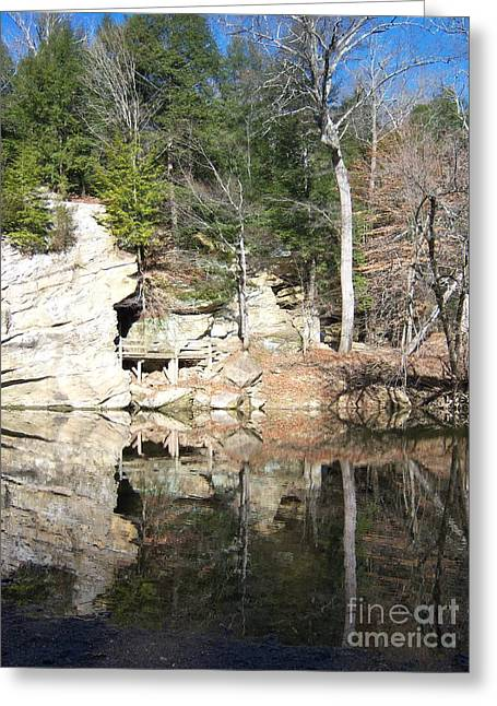 Greeting Card featuring the photograph Sugar Creek Mirror by Pamela Clements