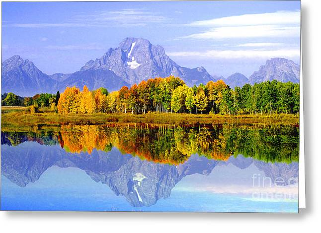 Mirror Image Greeting Card by Robert Kleppin