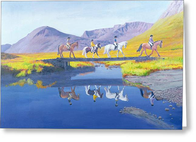Mirror In The Cairngorms Greeting Card by William Ireland