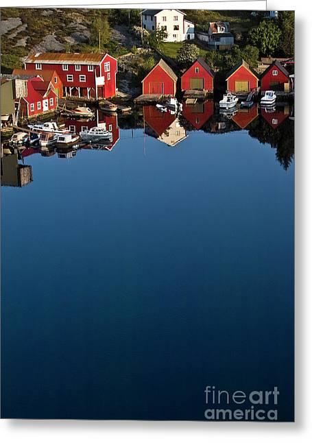 Mirror In The Norwegian Sea Greeting Card by Heiko Koehrer-Wagner