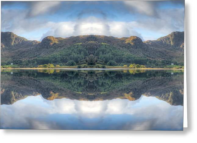 Mirror Lake Greeting Card by Adrian Evans