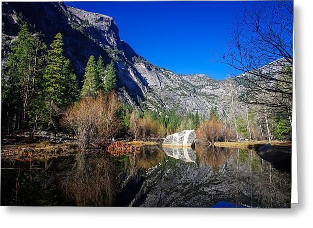 Mirror Lake Yosemite National Park Greeting Card by Scott McGuire