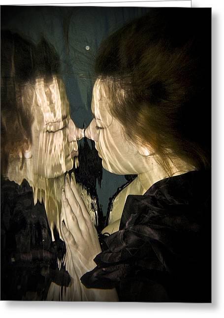 Mirror Mirror Greeting Card by Don Krajewski