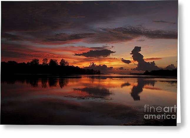 Greeting Card featuring the photograph Mirror Of Nature by Gary Bridger