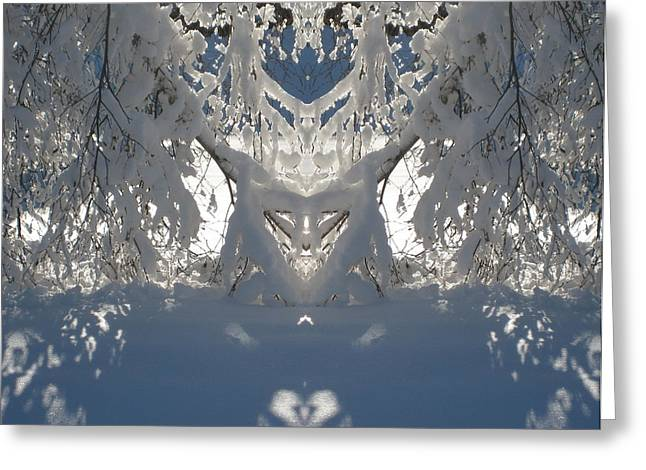 Mirror Of Snow  Greeting Card