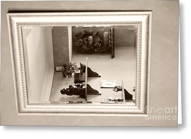 Mirror On The Wall  Greeting Card by Bobby Mandal