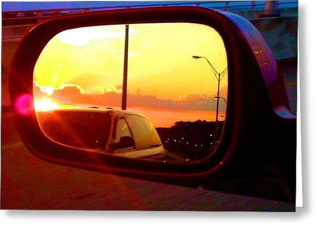 Mirror Sunset Greeting Card