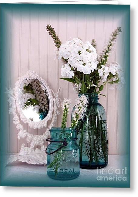 Mirrored Bouquet 1 Greeting Card