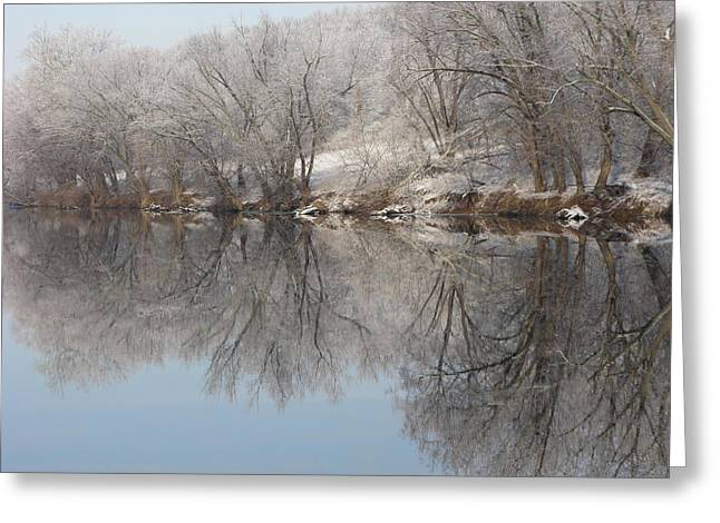 Mirrored Image Greeting Card by Laura Corebello