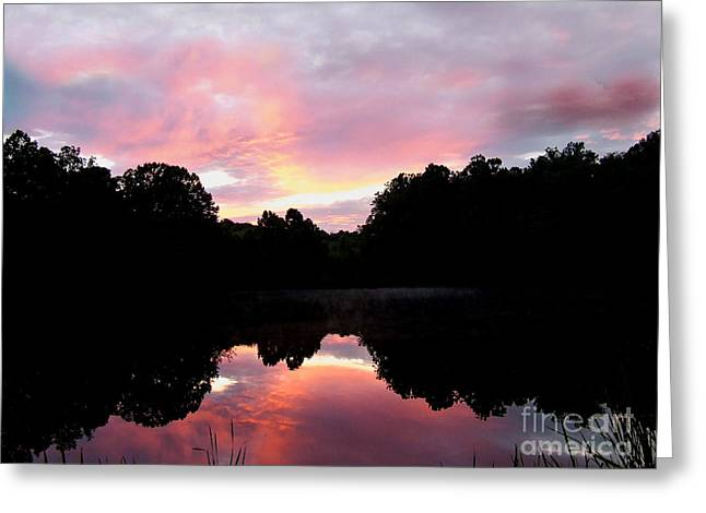 Mirrored In The Lake Greeting Card by Scott B Bennett