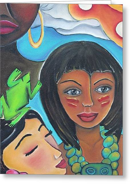 Mis Raices - My Roots Greeting Card by Janice Aponte