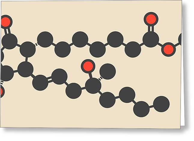 Misoprostol Molecule Greeting Card by Molekuul