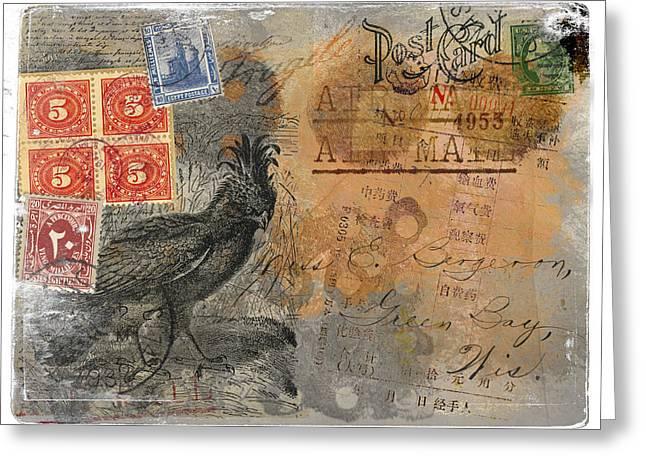Miss Bergeron Postcard Greeting Card by Carol Leigh