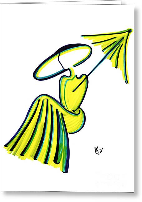 Miss Deauville Greeting Card