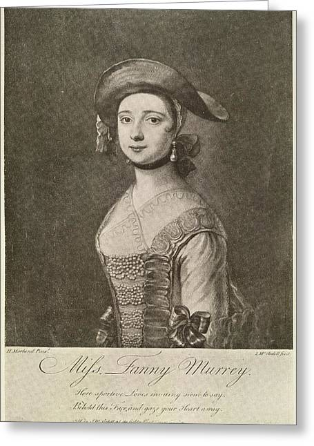Miss Fanny Murray Greeting Card by British Library