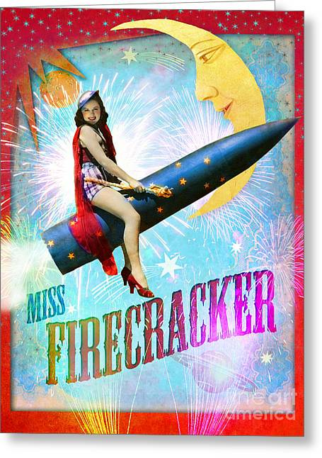 Miss Fire Cracker Greeting Card