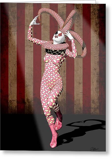 Harley Quinn Greeting Card by Quim Abella