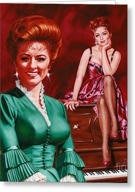 Miss Kitty Greeting Card by Dick Bobnick
