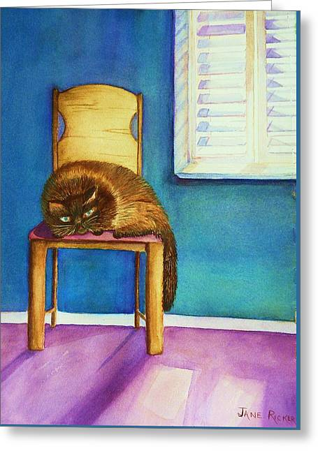 Kitty's Nap Greeting Card