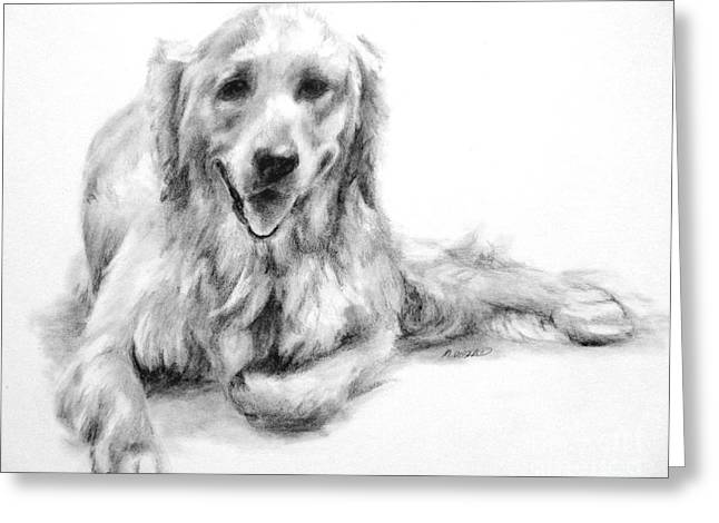 Greeting Card featuring the drawing Miss Maddie  by Meagan  Visser