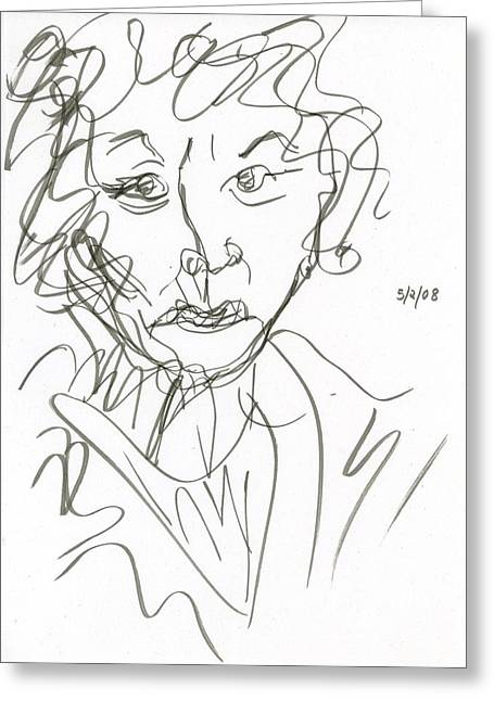 Miss Marple Sketch I Greeting Card