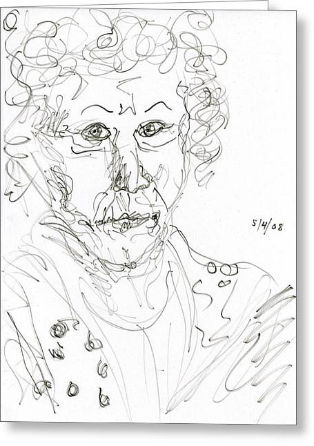 Miss Marple Sketch II Greeting Card by Rachel Scott