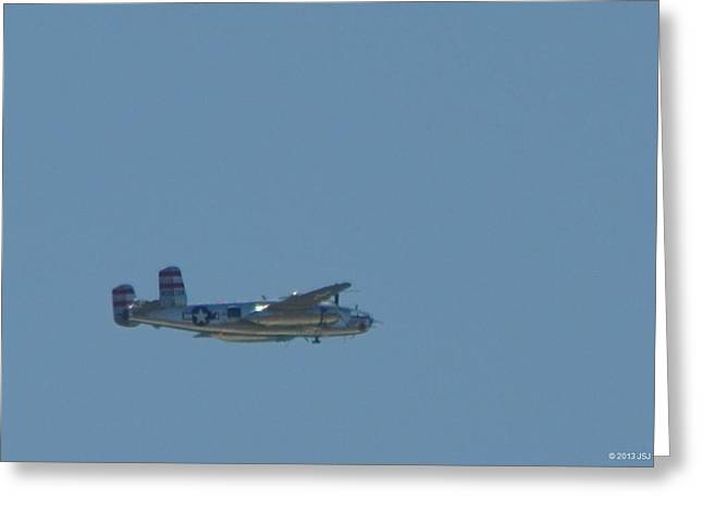 Miss Mitchell Wwii B25 Bomber Over Florida 21 April 2013 Greeting Card
