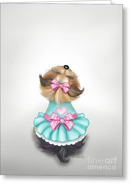 Miss Pretty Greeting Card