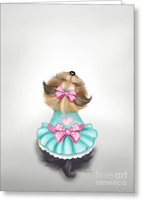 Miss Pretty Greeting Card
