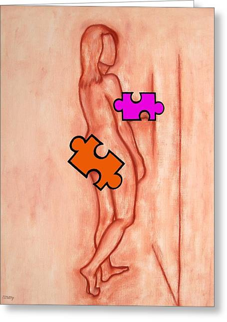 Missing Piece 5 Greeting Card by Patrick J Murphy