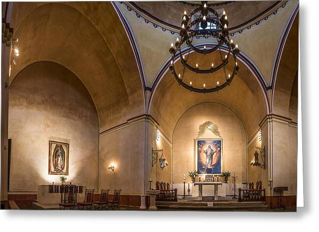 Mission Concepcion Altar Greeting Card by Andy Crawford