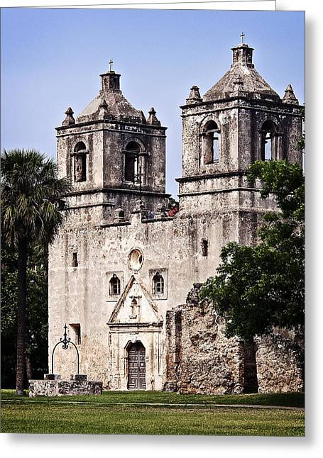 Greeting Card featuring the photograph Mission Concepcion by Andy Crawford