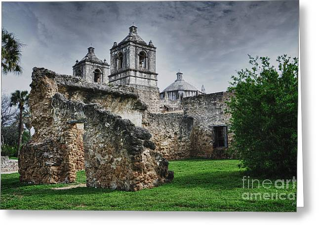 Mission Concepcion San Antonio Texas Greeting Card by Gerlinde Keating - Galleria GK Keating Associates Inc