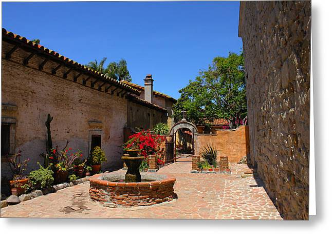 Mission Courtyard Greeting Card