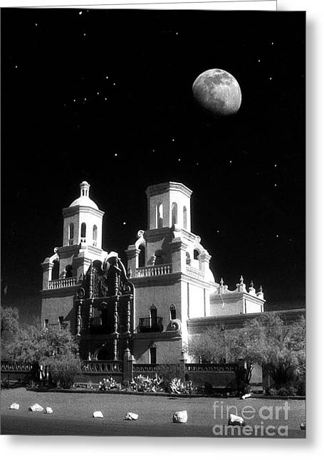 Mission Del Bac Greeting Card by Robert Kleppin