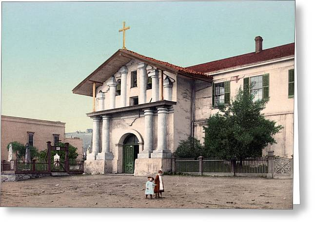 Mission Dolores, C1898 Greeting Card