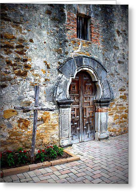 Mission Espada - Doorway Greeting Card