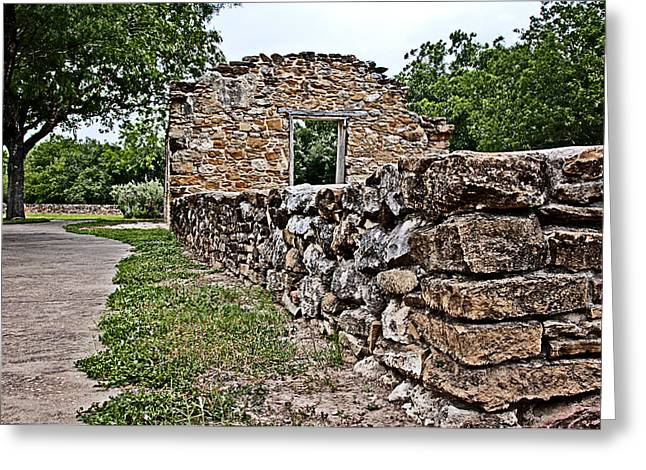 Greeting Card featuring the photograph Mission Espada Ruins by Andy Crawford