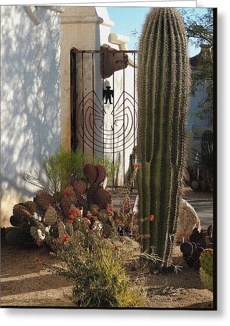 Mission Gate Greeting Card by Gordon Beck