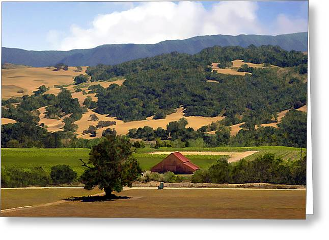 Mission Meadows Solvang California Greeting Card by Kurt Van Wagner