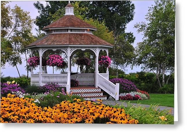 Mission Point Resort Gazebo On Mackinac Island Greeting Card