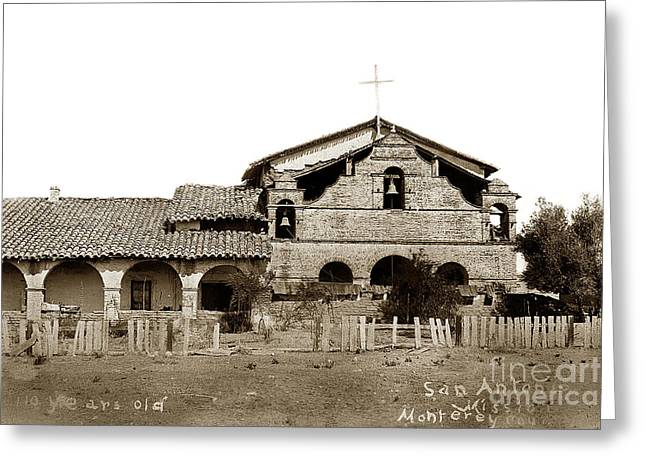 Mission San Antonio De Padua California Circa 1885 Greeting Card