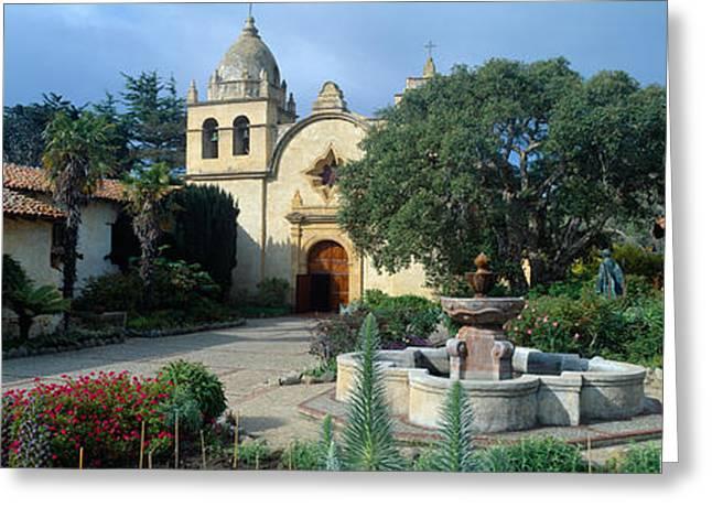 Mission San Carlos Borromeo De Carmelo Greeting Card by Panoramic Images