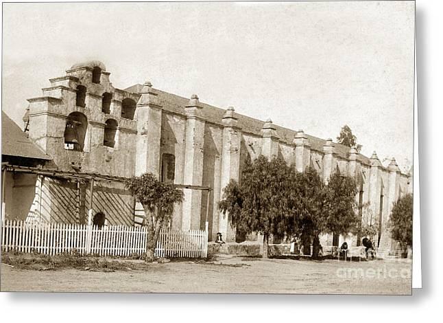 Mission San Gabriel Arcangel California Circa 1895 Greeting Card