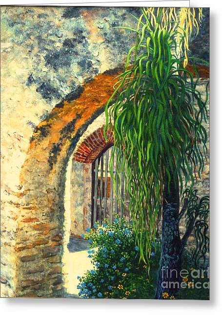 Mission San Jose Greeting Card by Beverly Theriault