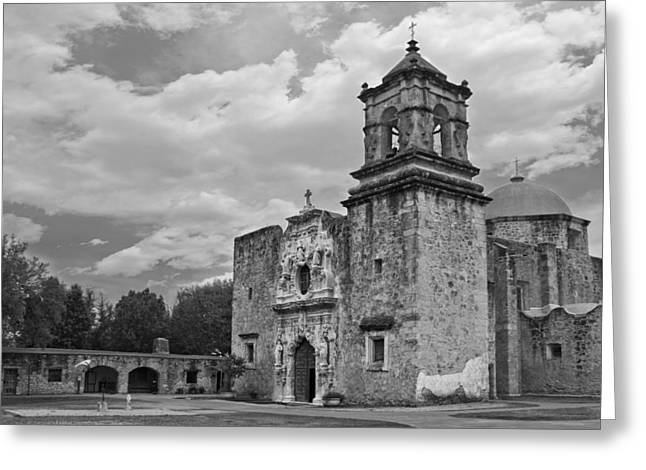 Mission San Jose Bw Greeting Card