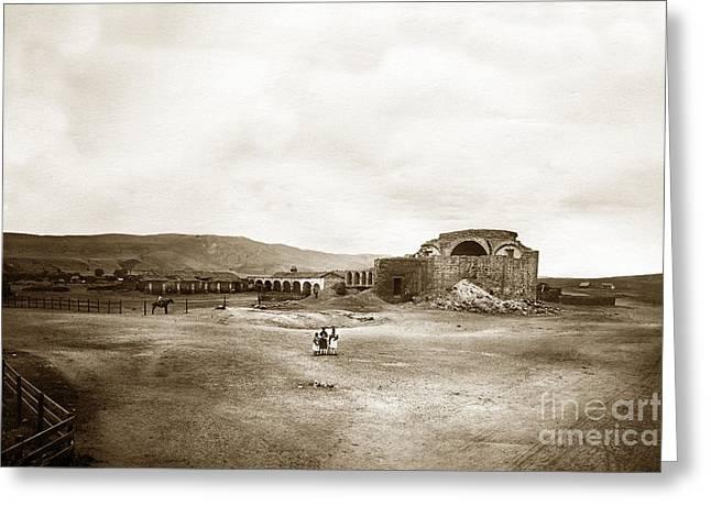 Mission San Juan Capistrano California Circa 1882 By C. E. Watkins Greeting Card