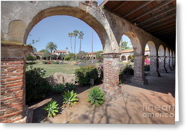 Greeting Card featuring the photograph Mission San Juan Capistrano by Martin Konopacki