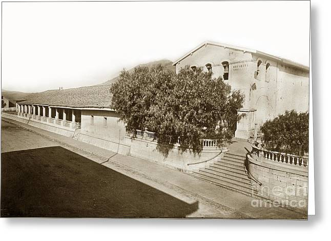 Mission San Luis Obispo De Tolosa California 1880  Greeting Card by California Views Mr Pat Hathaway Archives